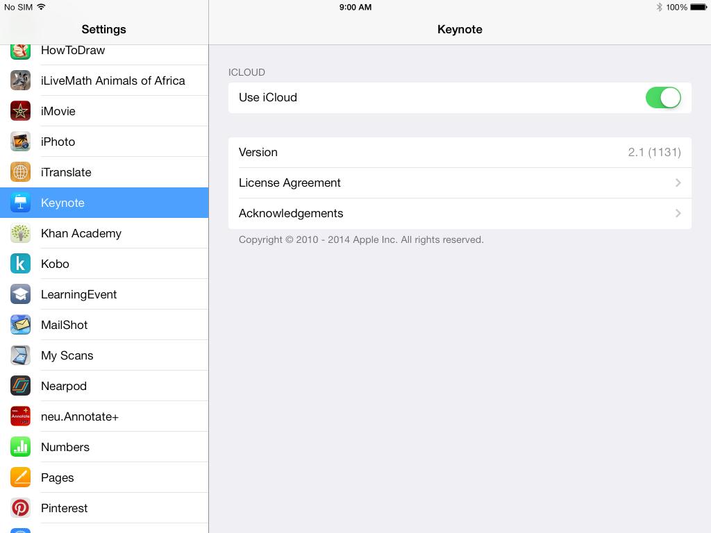 Keynote iCloud