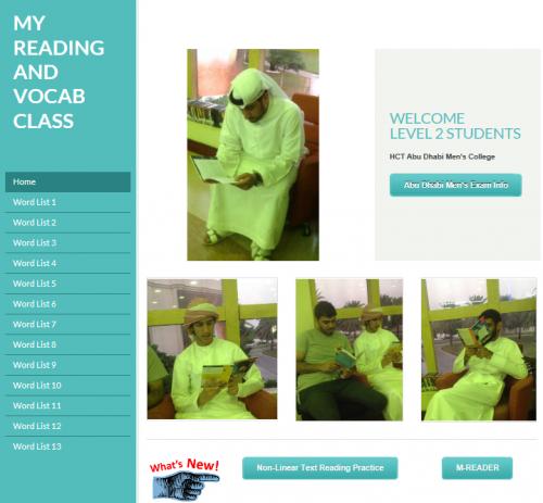 Reading Vocab Site