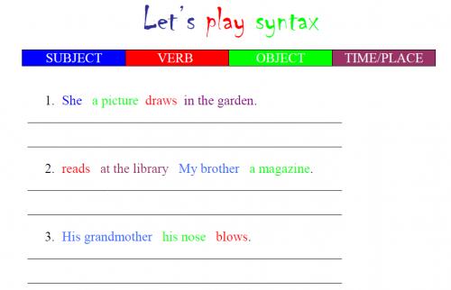 word-order